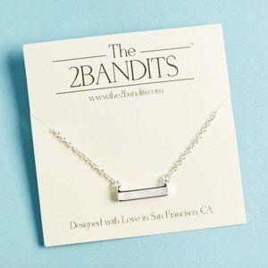 NWOT The 2Bandits Silver Pearlescent Necklace